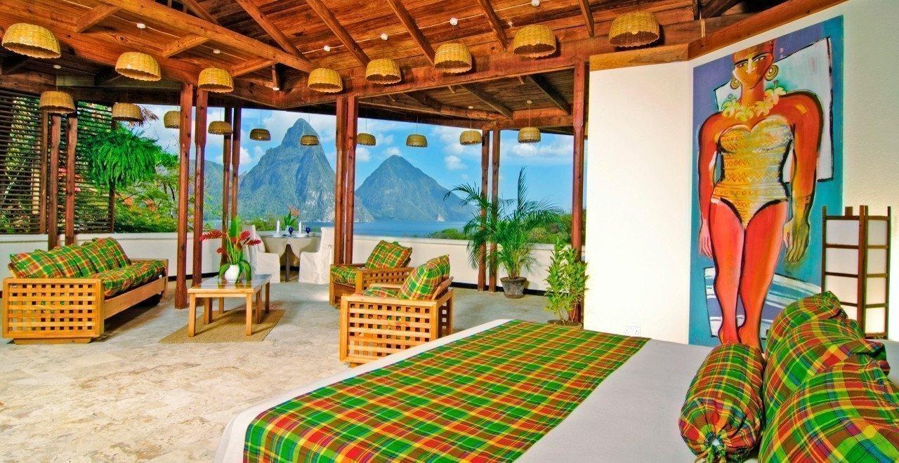 Villa con vistas a los picos gemelos del Anse Chastanet Resort