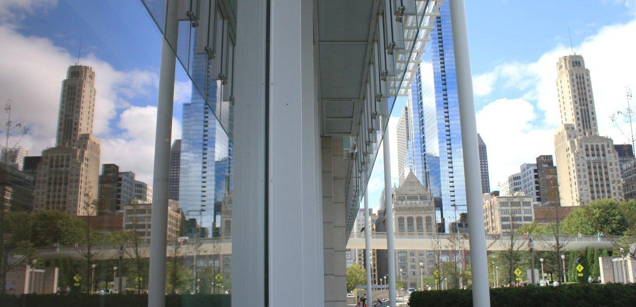 Visión desde uno de los nuevos edificios del Art Institute of Chicago