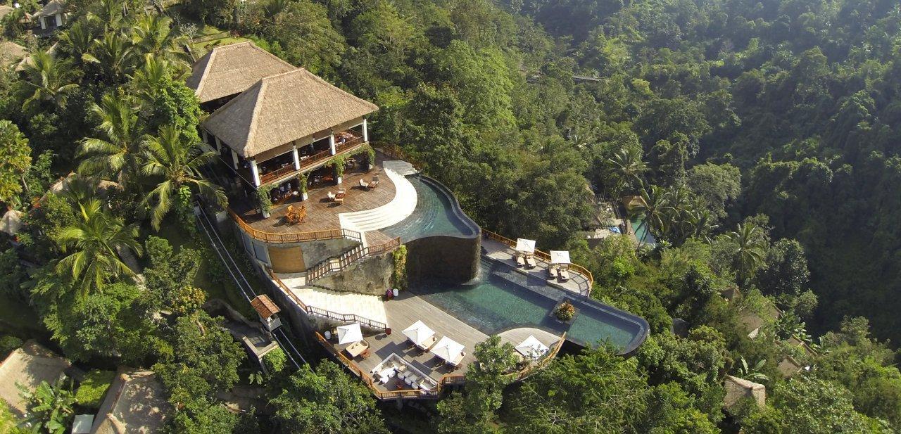 Vista aérea de Ubud Hanging Gardens