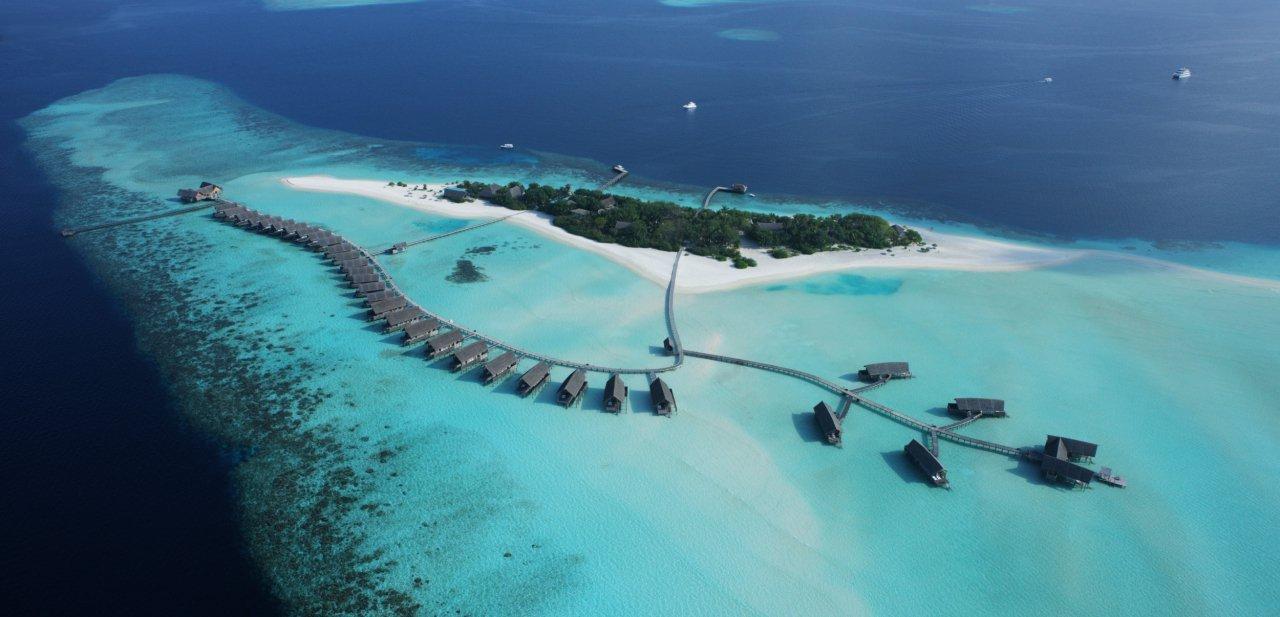 Vista aérea del Cocoa Island Resort