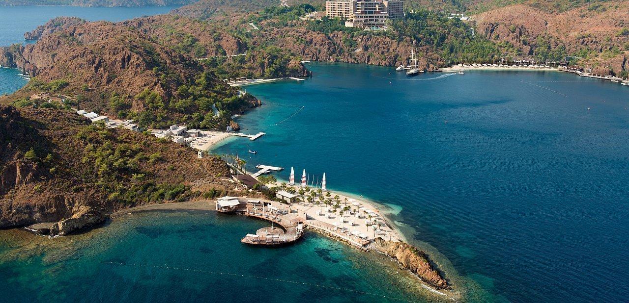 Vista aérea del complejo D-Hotel Maris, Turquía