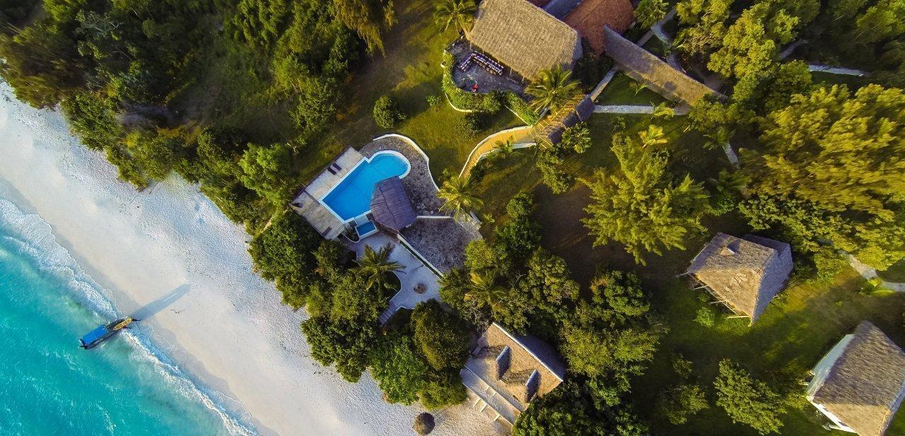 Vista aérea del Manta Resort