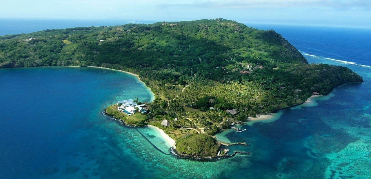 Vista aérea del resort Wakaya