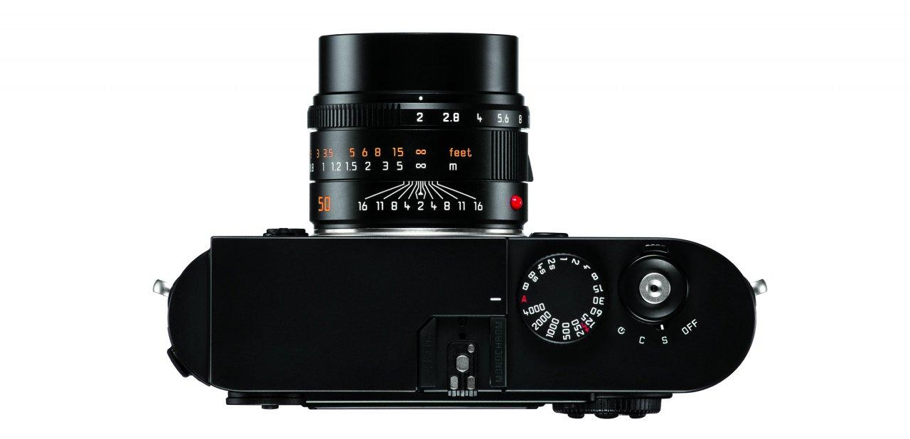 Vista cenital de la Leica M Monochrom