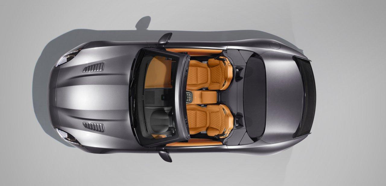 Vista cenital del Jaguar F-Type SVR Convertible