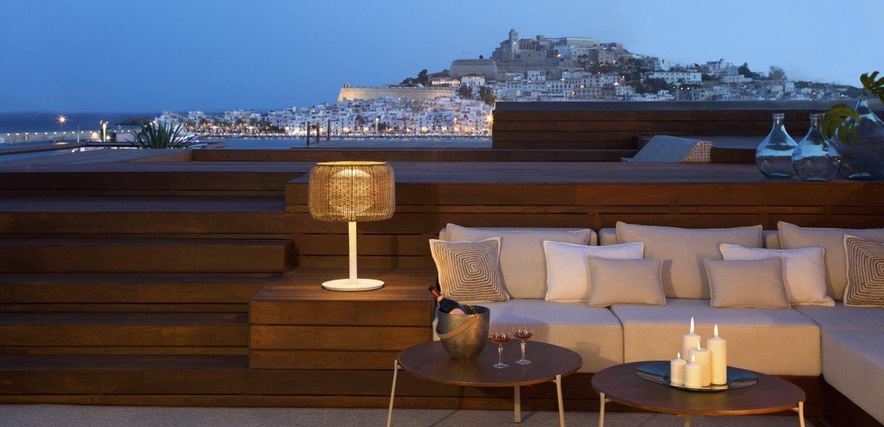 Vista de Ibiza desde el Ibiza Gran Hotel
