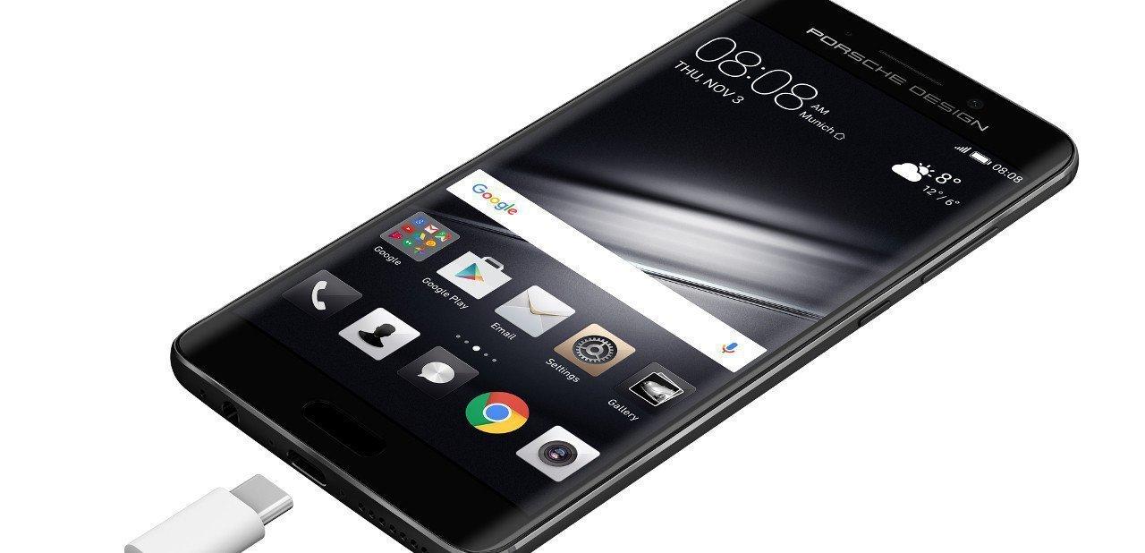 Vista de la pantalla de un Huawei Mate 9 Porsche Design