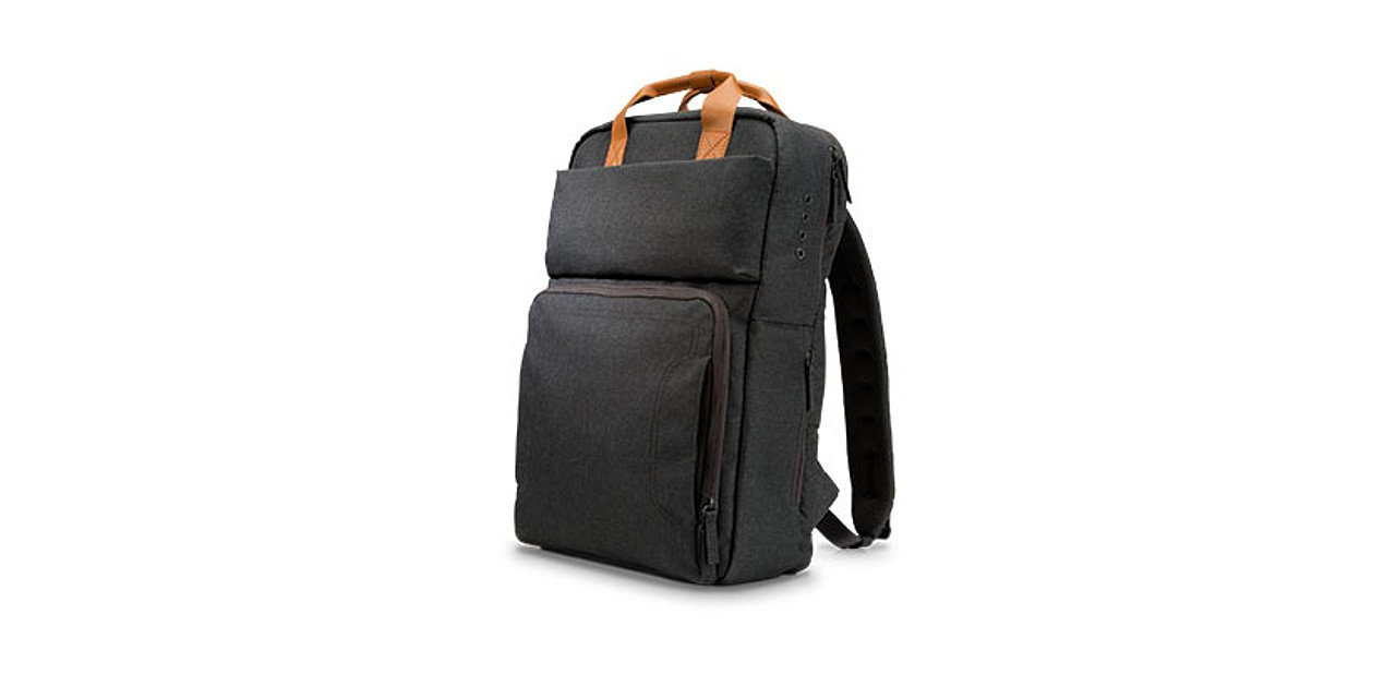 Vista frontal de la HP Powerup Backpack