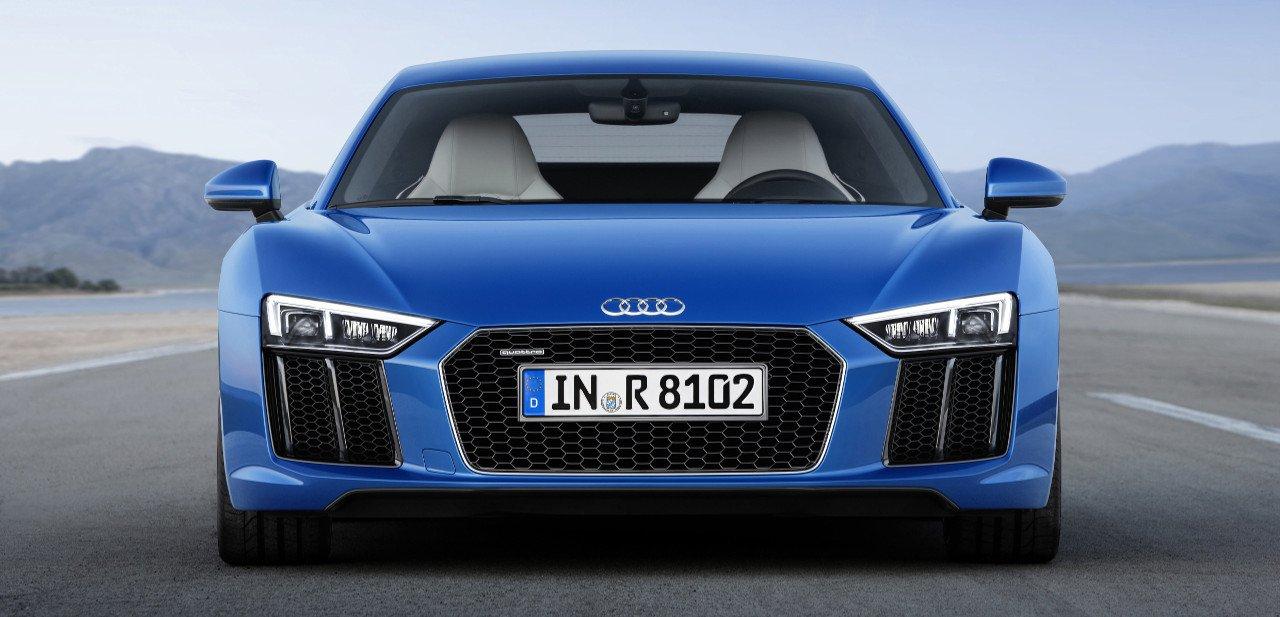 Vista frontal del Audi R8