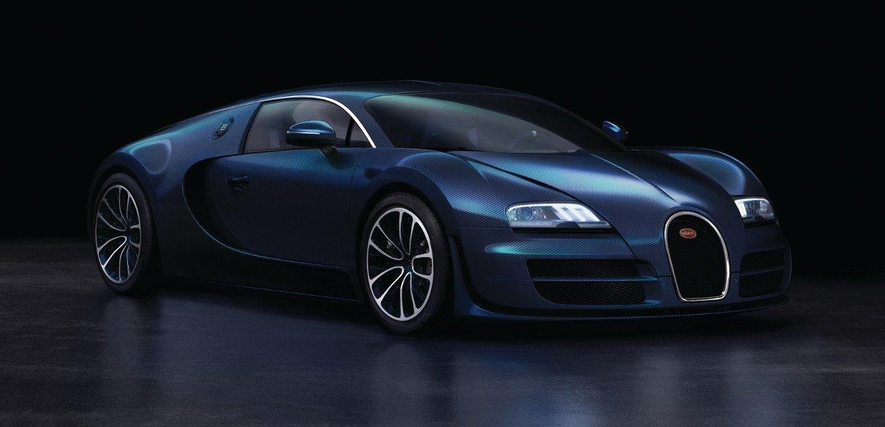 Vista frontal del Bugatti Veyron