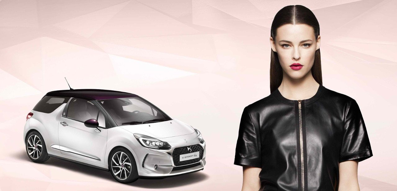 Vista frontal del Citroën DS3 Givenchy Le Makeup
