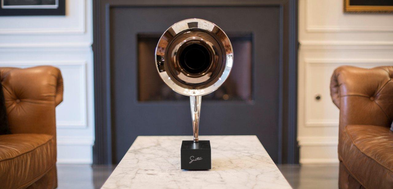Vista frontal del Gramovox Gramophone Sinatra Edition