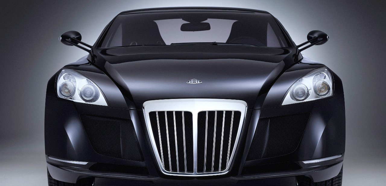 Vista frontal del Maybach Exelero