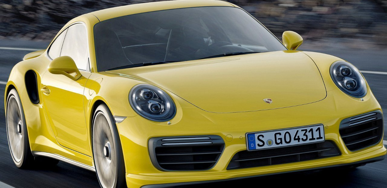 Vista frontal del Porsche 911 Turbo S