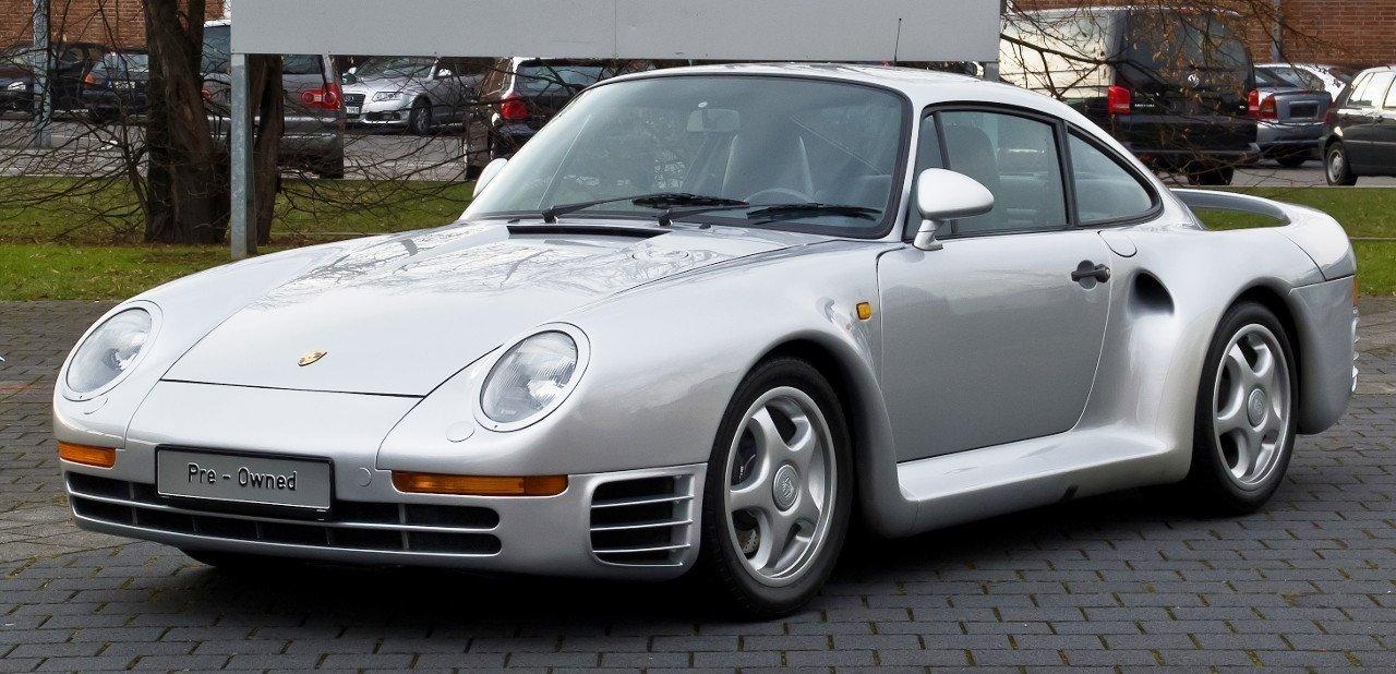 Vista frontal del Porsche 959