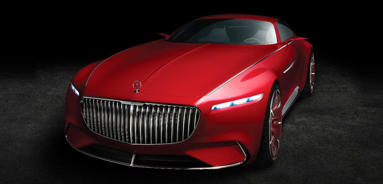 Vista frontal del Vision Mercedes-Maybach 6 Concept