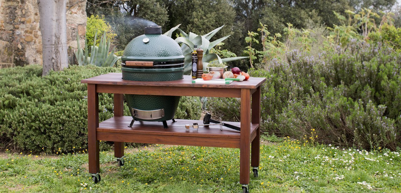 Vista general de la Big Green Egg