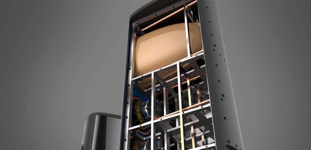 Vista interior de los altavoces M3