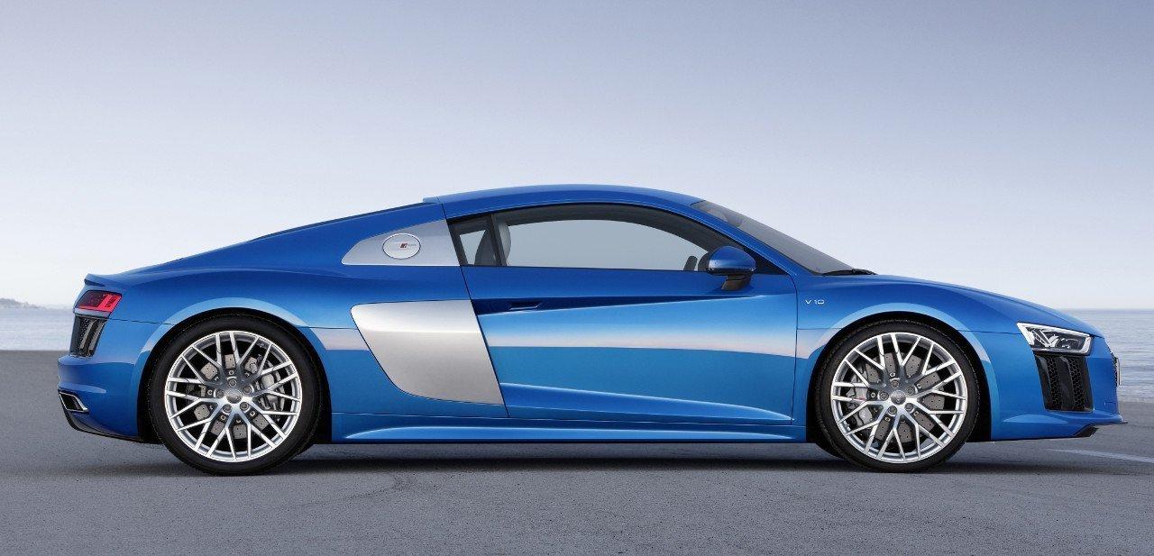 Vista lateral del Audi R8