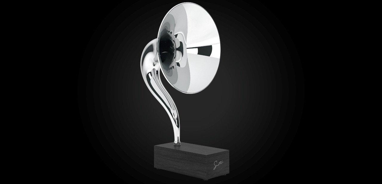 Vista lateral del Gramovox Gramophone Sinatra Edition