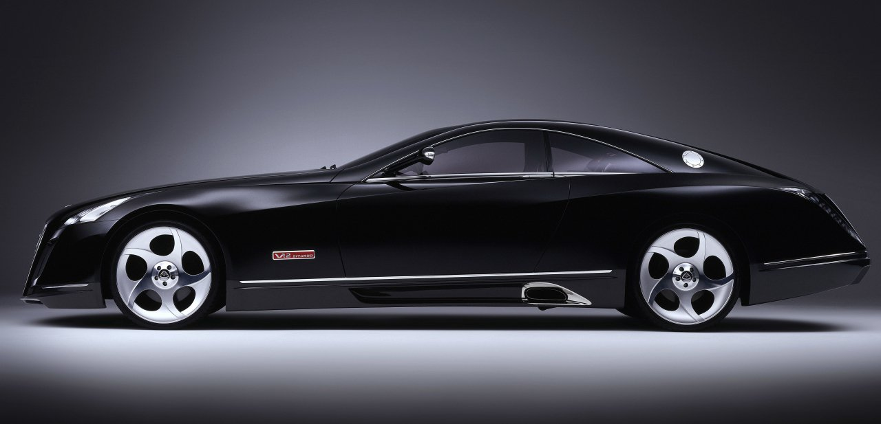 Vista lateral del Maybach Exelero