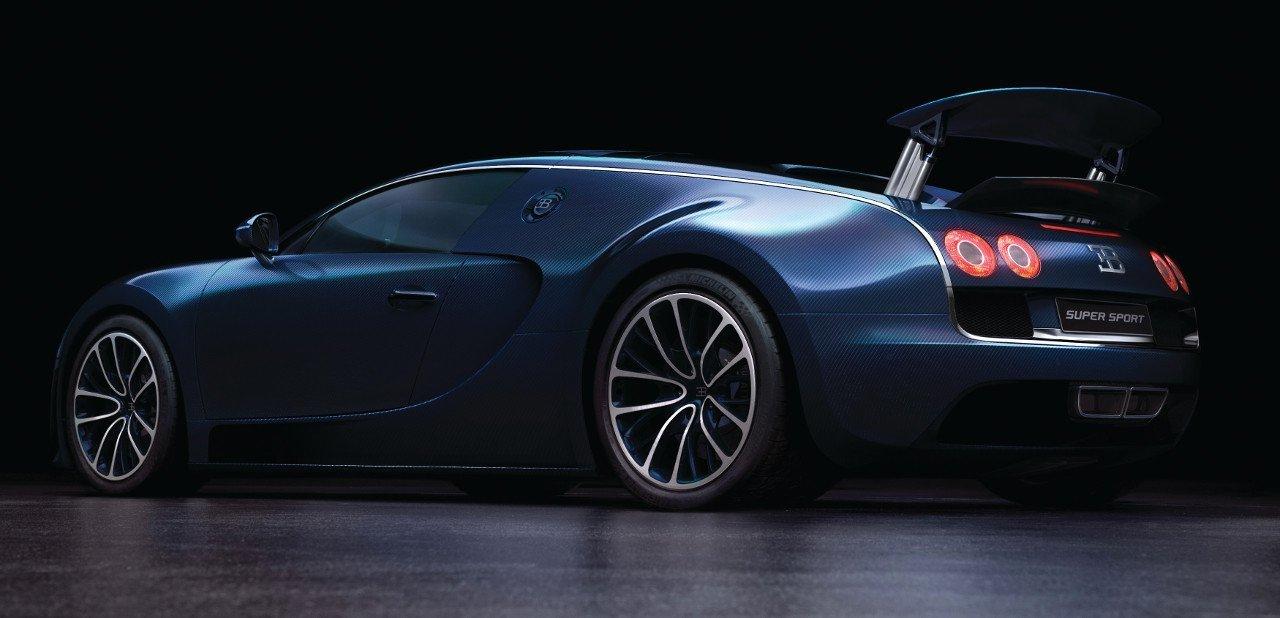 Vista trasera del Buagtti Veyron