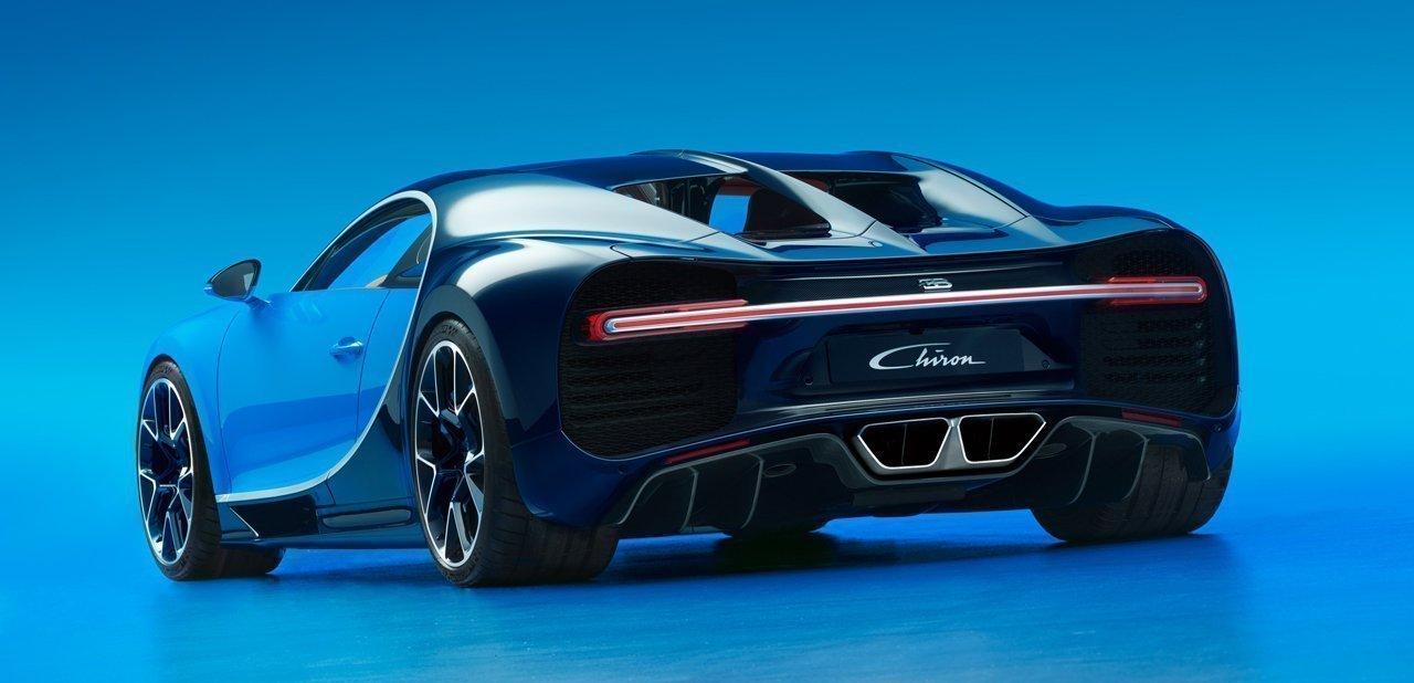 Vista trasera del Bugatti Chiron