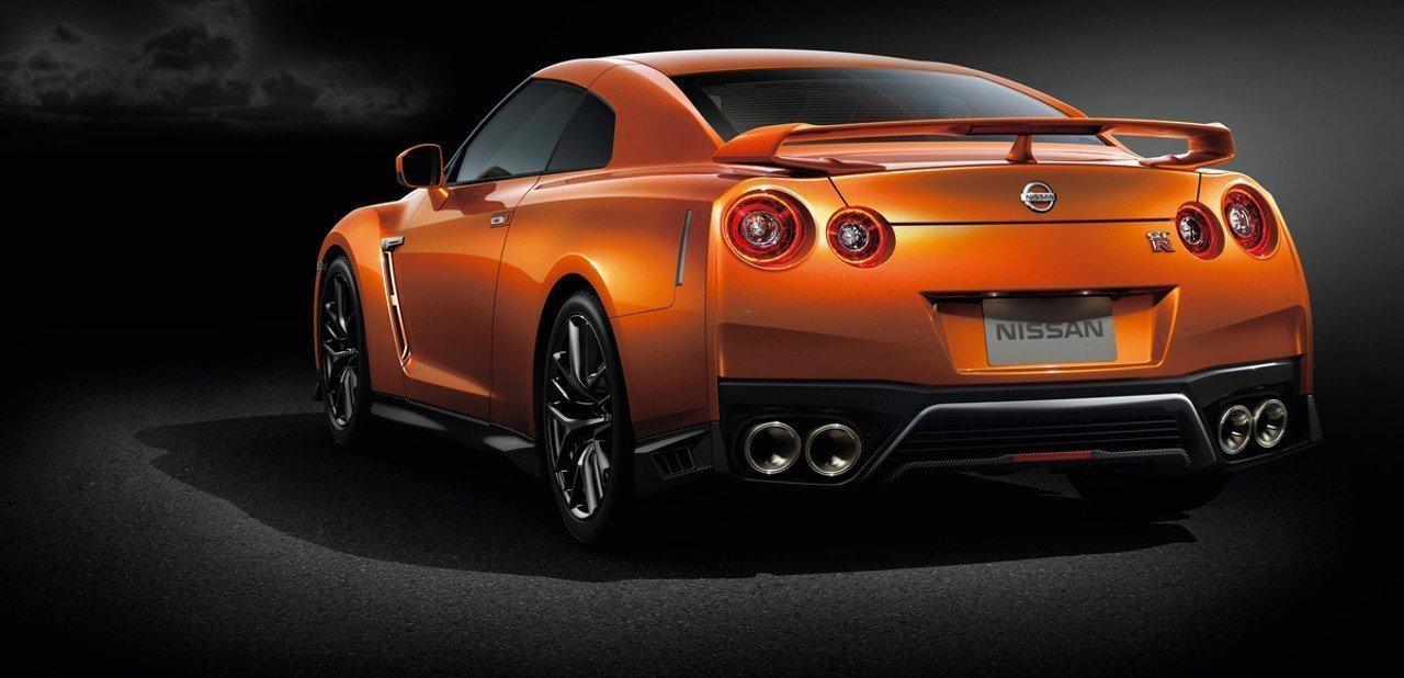 Vista trasera del Nissan GT-R