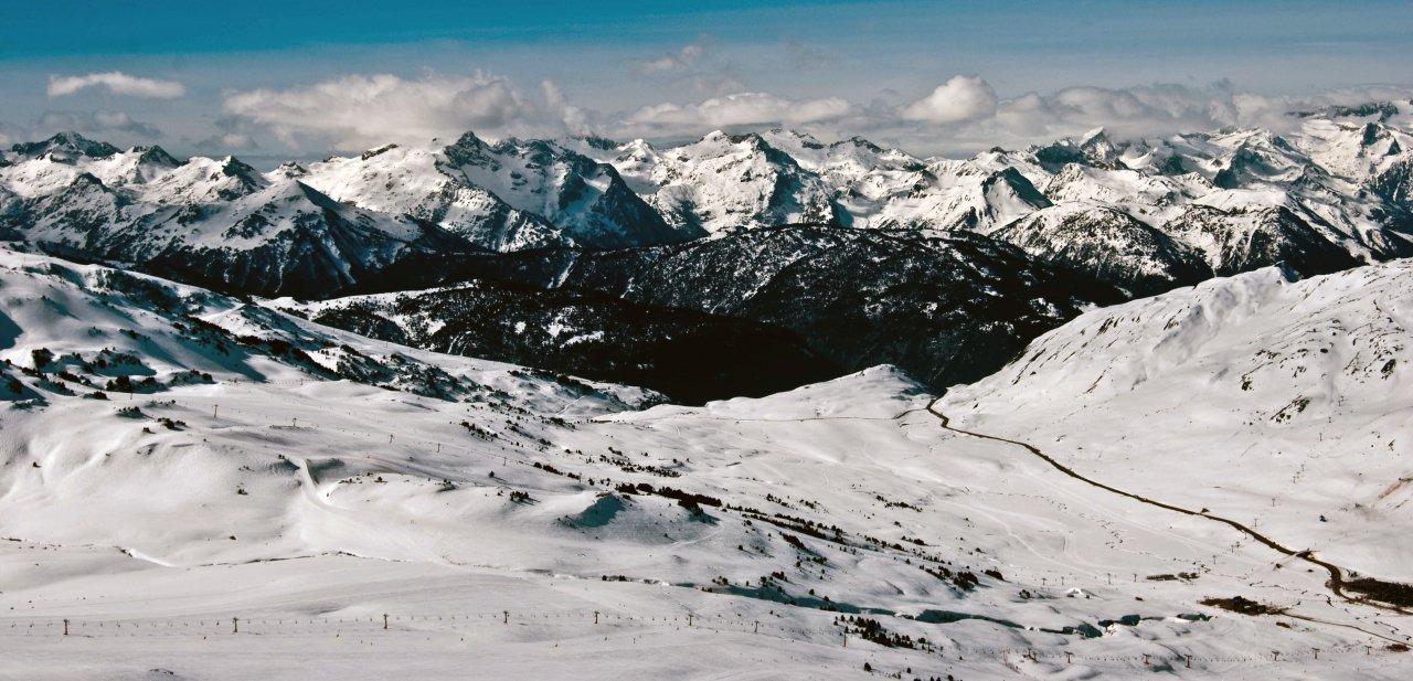 Vistas de Baqueira y los Pirineos