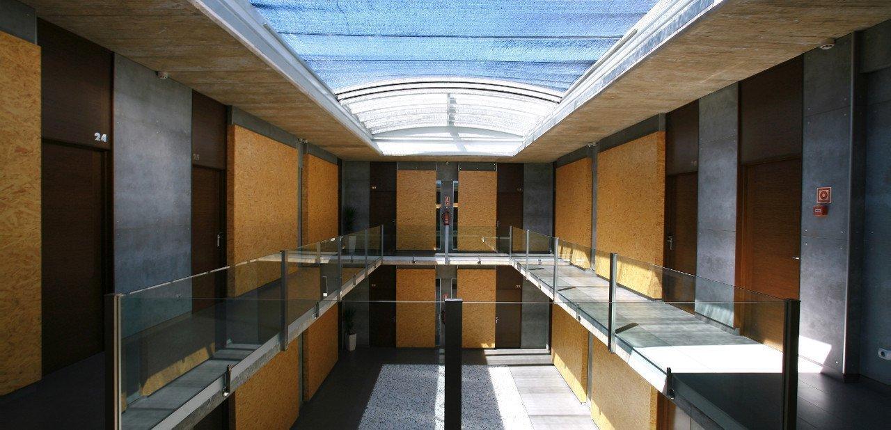 Zona de habitaciones de diseño del Hotel Casa del Rector