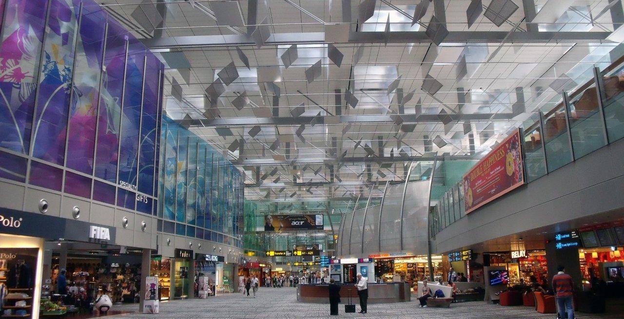 Zona de tránsito del Aeropuerto Internacional de Singapur